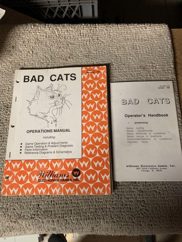 originsl Bad Cats Set Williams pinball MACHINE Manual