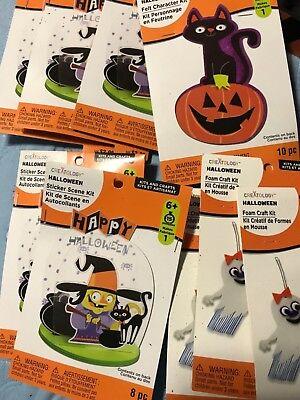 Creatology Halloween Foam Activity Kits (9 Creativity  Foam sticker scene Activity Kits Halloween)