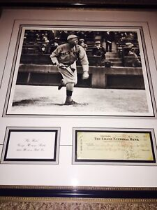 BABE RUTH SIGNED CHECK WITH COA