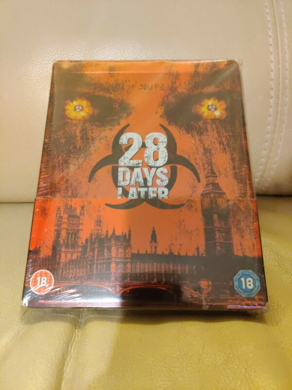 28 Days Later Bluray Steelbook, UK version, New/Sealed, Region A+B