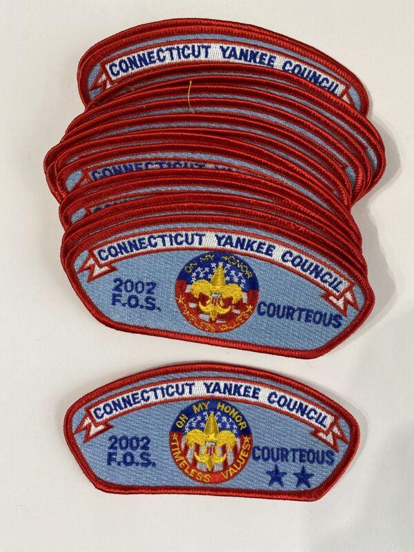 Connecticut Yankee Council - 25 CSP Lot - Friends of Scouting 2002 Courteous