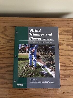 String Trimmer Manual - String Trimmer And Blower Service Manual