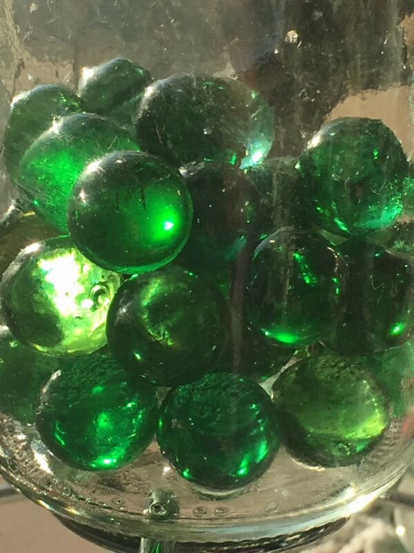 15 HELENITE Marble Slugs Mt St Helens Green Obsidianite... Facet rough!