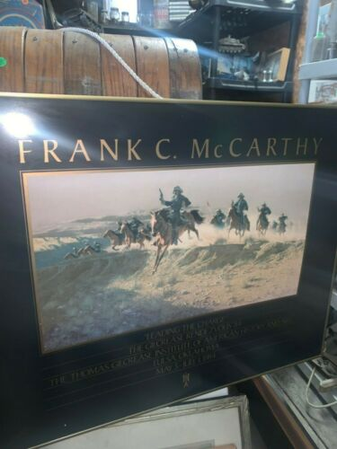 Frank C. McCarthy Leading the Charge Framed Print