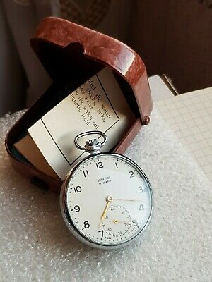 SERKiSOF Molnija SLIM Vintage pocket watch 15j Locomotive BOX+ DOCUMENT RARE
