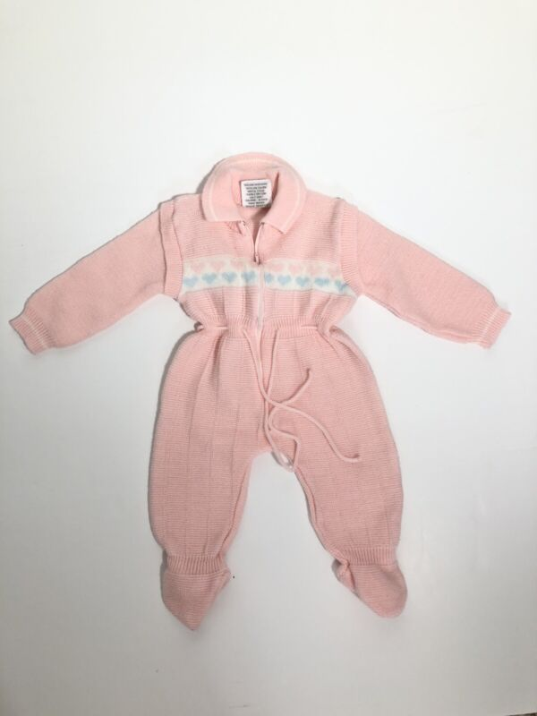 Vintage 70's Collections Baby Zipped Knit Sleeper One Piece 6-9 Months