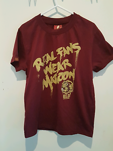 QLD State of Origin Supporters T Shirt Kids/ Youth Size 14 Edmonton Cairns City Preview