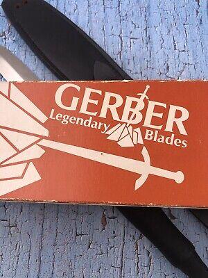 1983 Gerber Mint Mark II Armor Hide Handles Original Box & Sheath. Al Mar Design