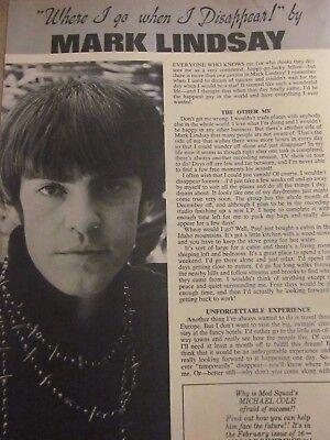 Mark Lindsay, Paul Revere and the Raiders, Full Page Vintage (Paul Revere And The Raiders Mark Lindsay)