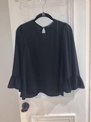 womens zara Black top/ blouse Size Small