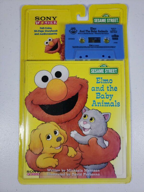 Vintage Sesame Street Sony Wonder Elmo And The Baby Animals NOS 1995          Wp