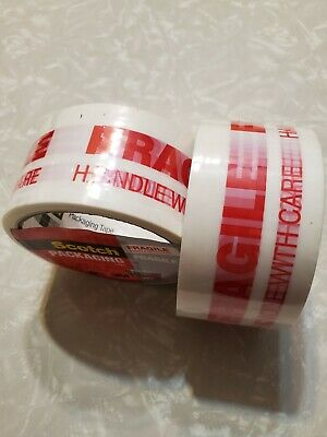 Scotch 3m Fragile Packing Tape 2x Industrial Glue