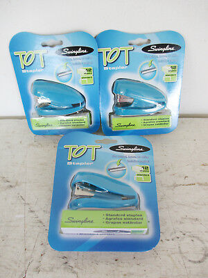 Lot Of 3 Swingline Tot Mini Stapler Plus 1000 Staples Built In Staple Remover