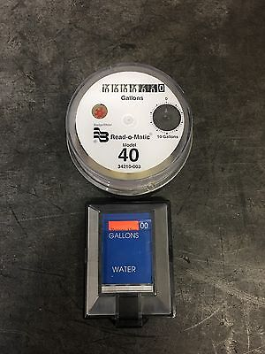 Badger Model 40 Water Meter Pulse Register And Remote Package. Gallons