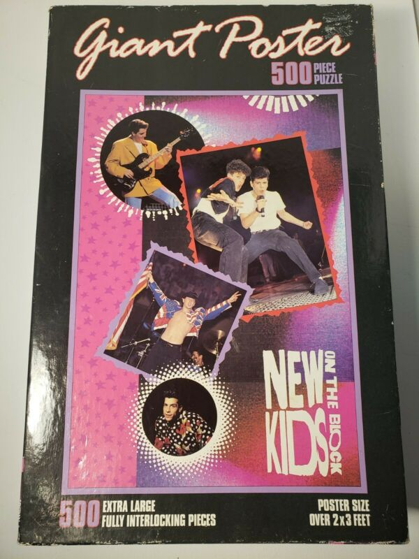 MILTON BRADLEY New Kids On The Block Poster Puzzle Vintage Sealed 1990 NKOTB