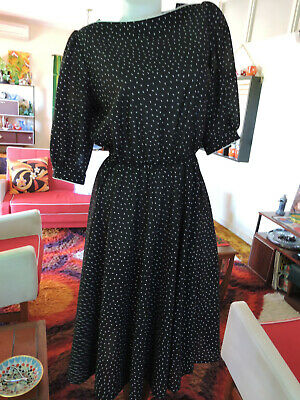 80s Dresses | Casual to Party Dresses Vintage 1980s British Polyester Day Dress M to L $22.47 AT vintagedancer.com