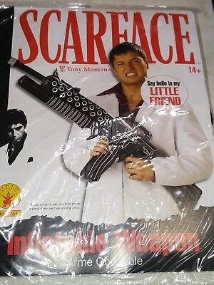 Scarface Tony Montana Inflatable Weapon Machine Gun  Halloween Prop lot of - Tony Montana Halloween