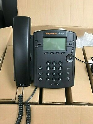 Polycom Vvx310telephone Black Voip 7 Sets Includes Power Cord Receiver