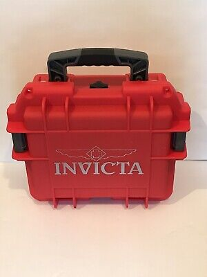 """Invicta 3 Slot Dive Watch Case Impact Resistant  Red  9-1/2 X 7-3/8 X 5""""  Inside"""