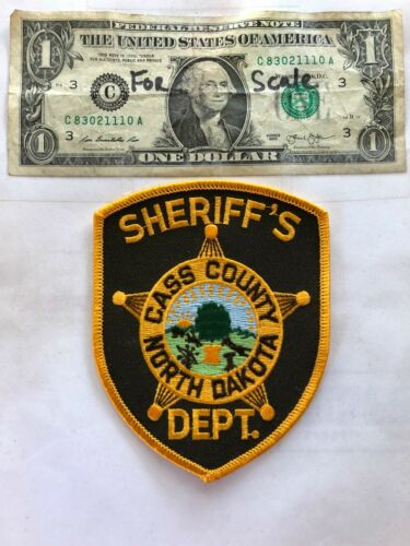 Cass County North Dakota Police Patch un-sewn in great shape