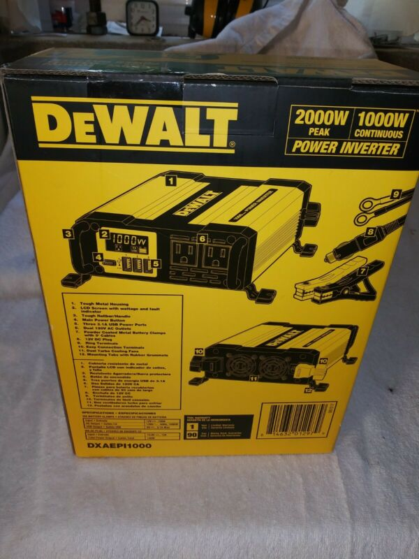 Dewalt 1000w power inverter. Home Depot