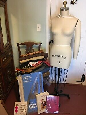 Collapsible Shoulder Dress Form W Arm - Womens Size12 - Fabrics Couture Books