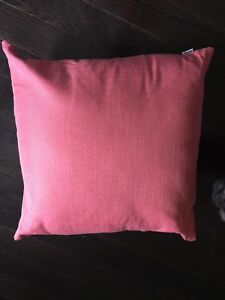 Bou Clair coral coloured pillows