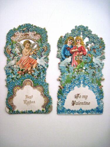 (2) Vintage Cards (1) Christmas & (1) Valentine - Pull Down & Embossed *