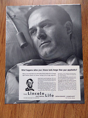 1962 Lincoln National Life Insurance Ad What Happens When Illness Last Paychecks