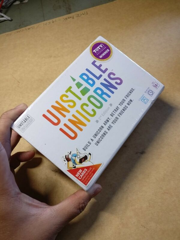 2019 Unstable Games Unstable Unicorns 2nd Edition Base Game NEW
