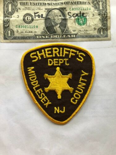 Middlesex County New Jersey Police Patch (Sheriff