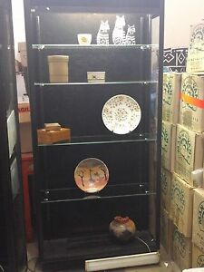 Glass Lockable Display case with Glass Shelves and Doors Belrose Warringah Area Preview