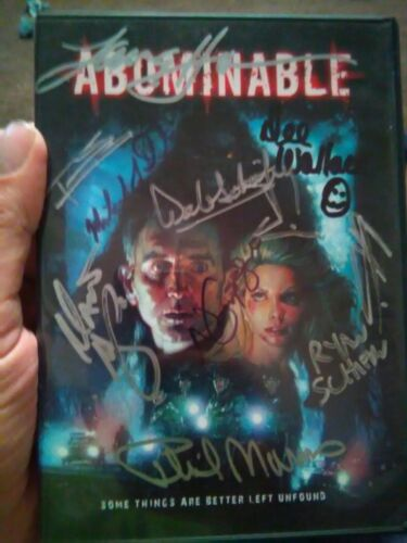 Autograph signed DVD Abhorrent signed 11X lance Henrickson, dee Wallace stone