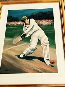 Donald Bradman cricket print Helensvale Gold Coast North Preview