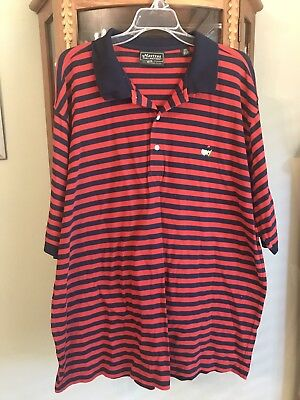 (Mens Augusta Masters Collection Golf Mercerized Cotton Stripe Polo XL)