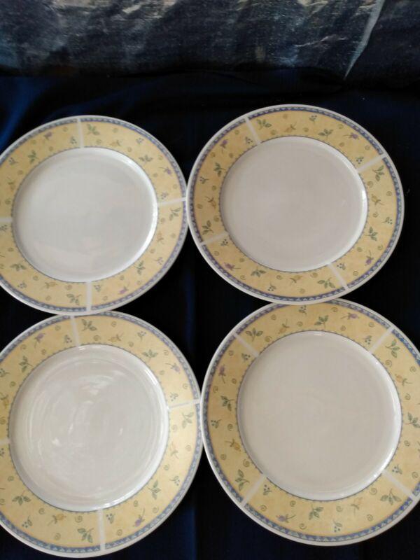 "Sango Papillon 8838 Dinner Plates Set Of 4 10.5"" EUC"