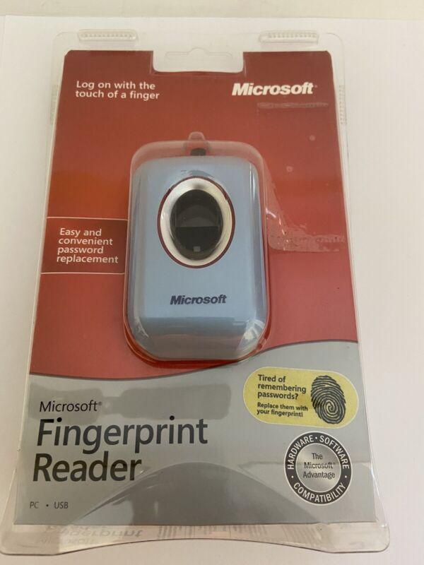 """2004 Microsoft Fingerprint Reader  """" New In Package""""."""