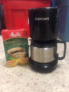 Cusinart 4-cup Coffee Maker w/Stainless Pot