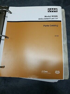 Case Model W26b Articulated Loader Parts Catalog