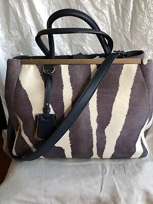 Authentic FENDI Shopping 2 Jours Calf Hair Limited Hand Bag—$3,450.00