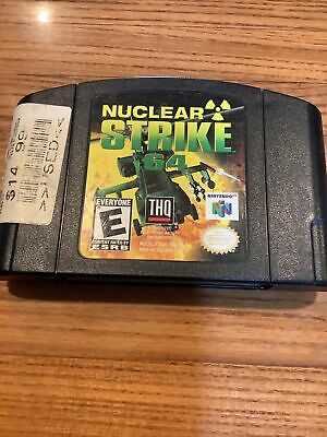 nuclear strike 64 nintendo n64 game pak works tested authentic