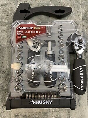 Husky 1/4 in. and 3/8 in. Socket Set (45-Piece) Missing 9 mm