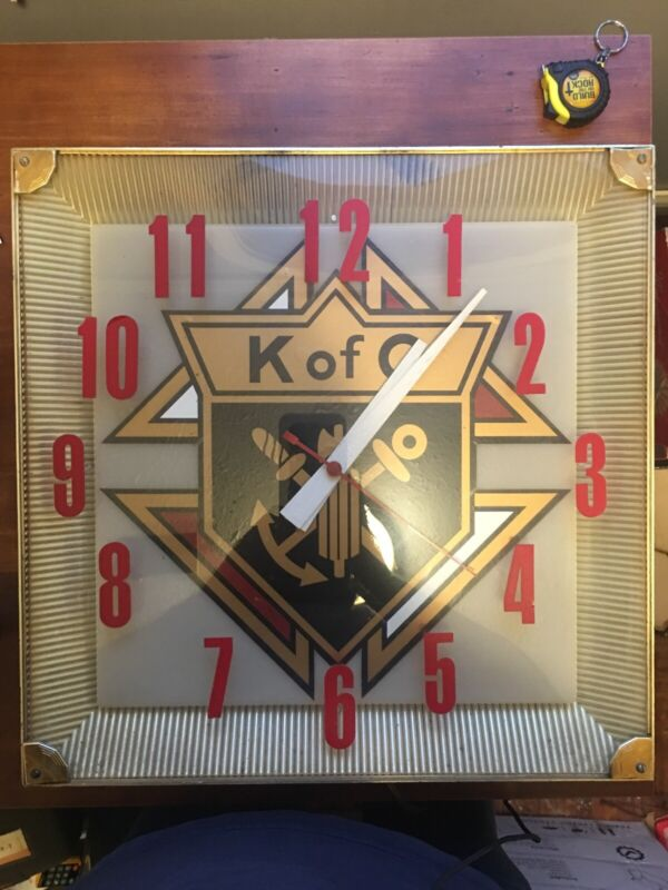 vintage knights of columbus K Of C Clock Bar Pool Hall Like Wall Hanging Clock