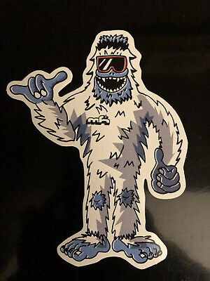 mh Abominable Snowman Bigfoot Decal Sticker Mountain High Sasquatch Yeti Shaka