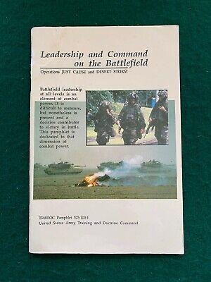 Vintage 1992 US Army TRADOC Pamp 525-100-1 Battlefield Leadership & Command