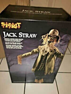 SPIRIT HALLOWEEN Jack Straw Animated Prop Animatronic New In Box