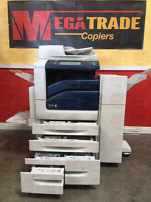 Xerox Workcentre 7845 Color Copier Machine Printer Scanner Fax Finisher Network