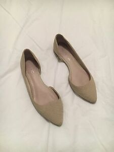Nude snake pattern leather flats Cronulla Sutherland Area Preview