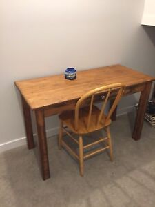 Solid maple wood desk & chair