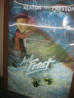 "JACK FROST 1998 RARE Original LENTICULAR 27x40"" US Movie Poster Michael Keaton for sale  Shipping to Canada"